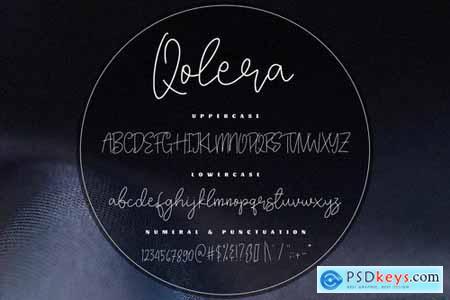 Qolera - An Elegant Script Font
