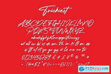 Trickiest Signature Font