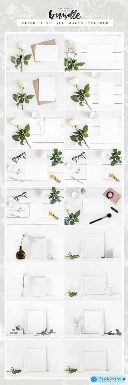 The White Rose Mockups Bundle 1508054