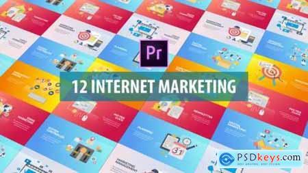 Internet Marketing Flat Animation (MOGRT) 26128353
