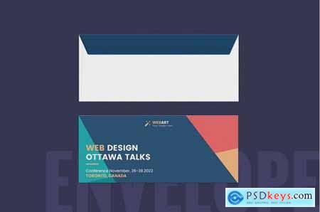 Conference Presentation Folder & Envelope Template