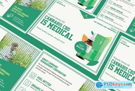 Cannabis Hemp Oil Products Identity PSD Template