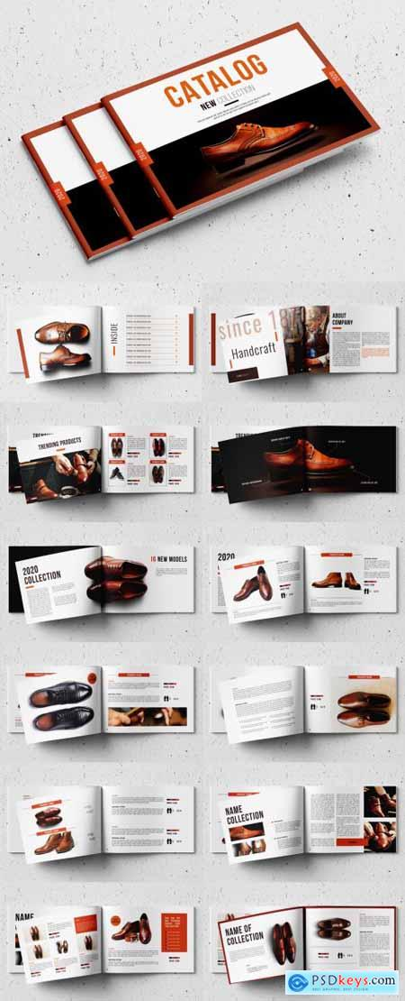 Product Catalog Layout with Red Accents 333008790