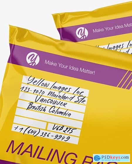 Two Glossy Mailing Bags Mockup 56688