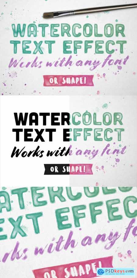Image Watercolor Text Effect Mockup 332947887