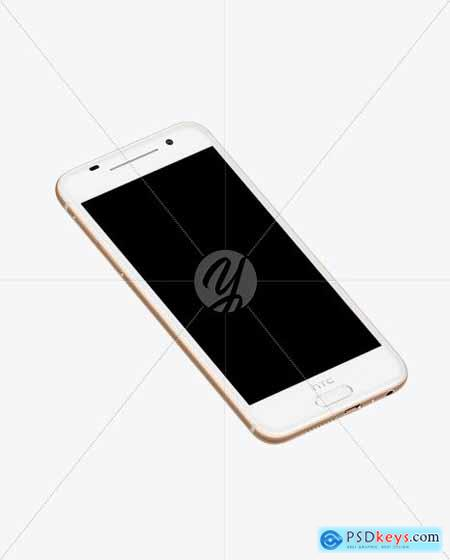 Rose Gold HTC A9 Phone Mockup 51712