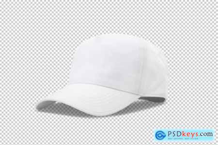 White baseball cap mockup template