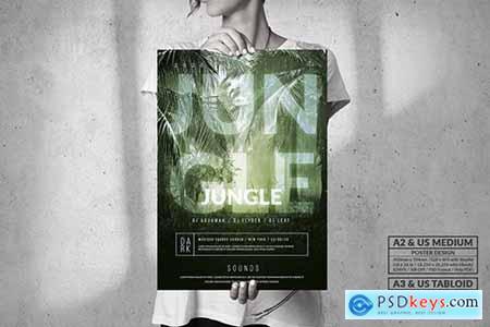 Dark Jungle Music Event - Big Party Poster Design