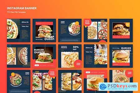 Instagram Banner Burger Fast Food