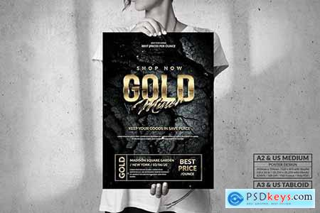 Gold Miner - Big Poster Design