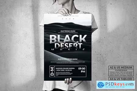 Black Desert Music Event - Big Party Poster Design