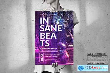 Insane Beats Music - Big Party Poster Design