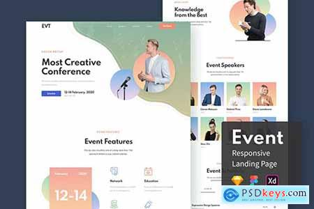 Event Responsive Landing Page