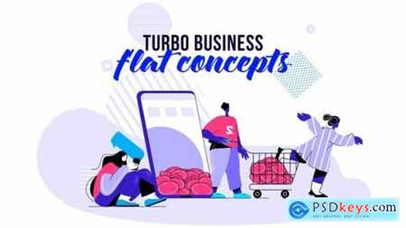 Turbo Business Flat Concept 26140416