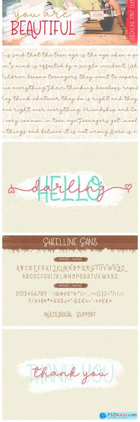Sheenline Duo Font