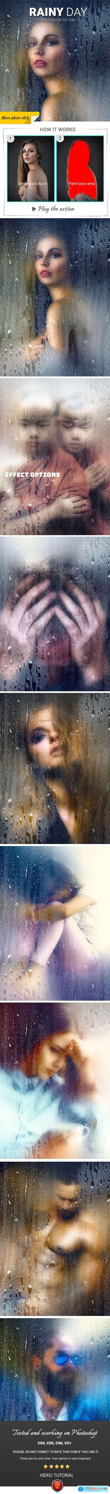 Rainy Day Photoshop Action 22558924