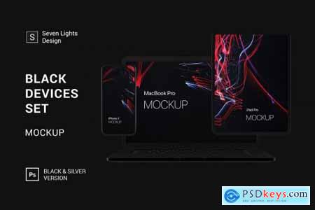 Black Devices Mockup Set 3662295