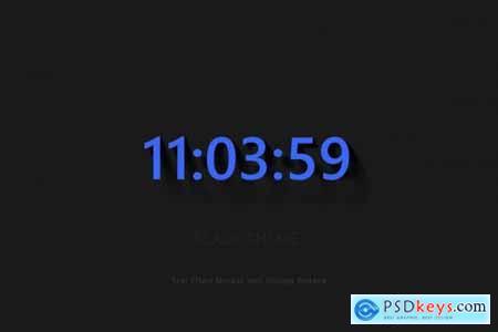 Text Effect Mockup Oblique Shadow 4694606