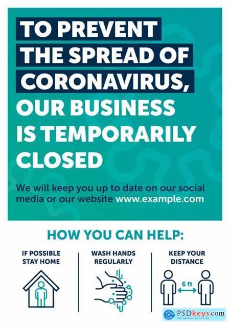Coronavirus Closed Store Poster Layout 333477985