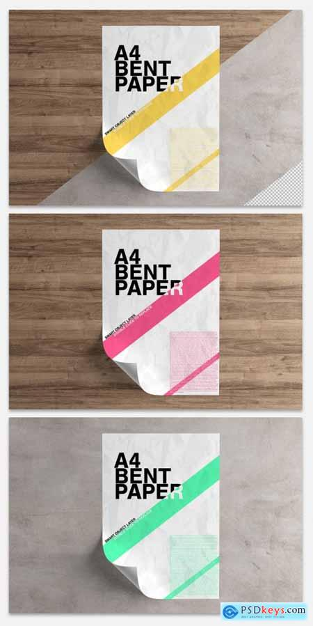 Curled Sheet of Paper Mockup 333493312