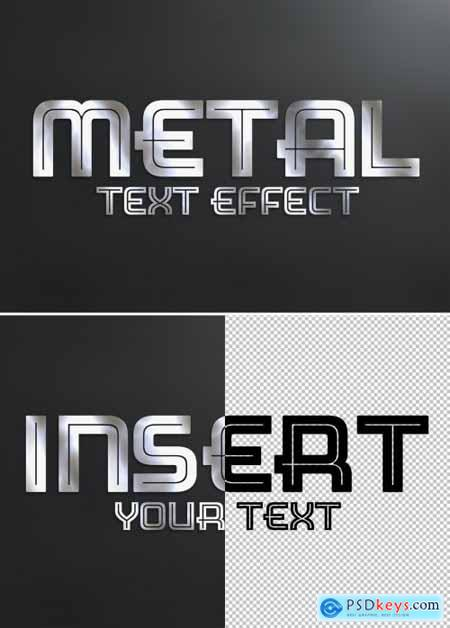 Metal Text Effect Style Mockup 333526355