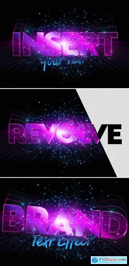 Neon Purple Text Effect Mockup 333526067