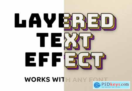 Retro Layered Text Effect Mockup 333484723