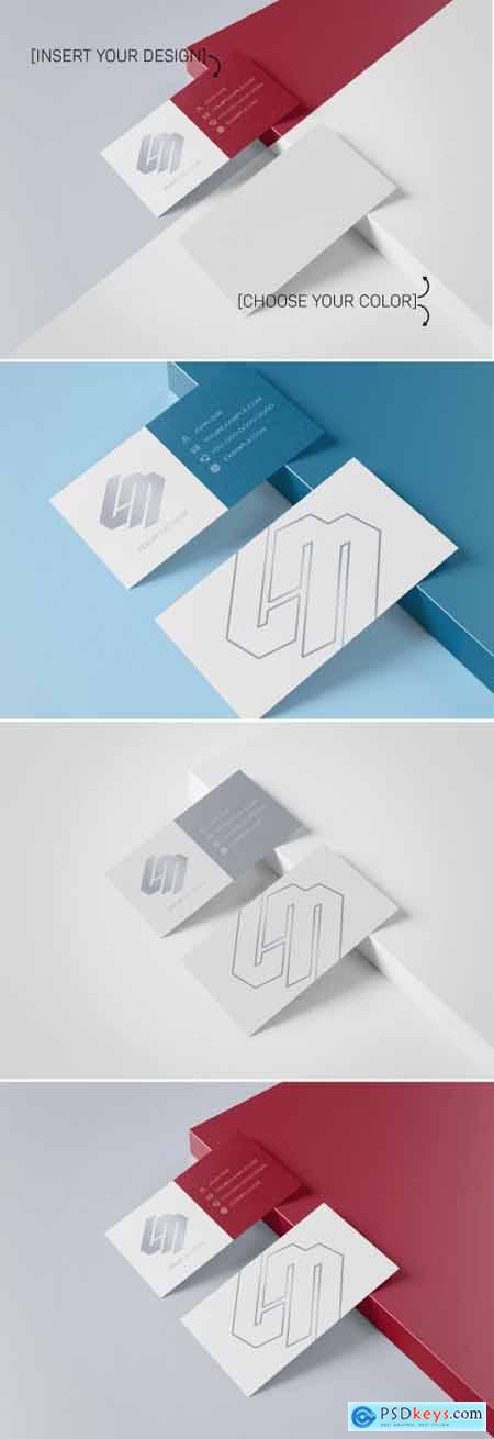 White Business Card Mockup 333525782