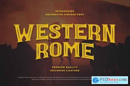 Western Rome - Vintage Western Font