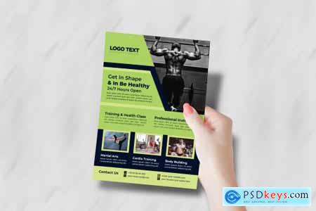 Cross Fitness Gym Flyer Template 4691752