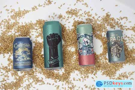 Different Size Malt Can Mockups 4747239