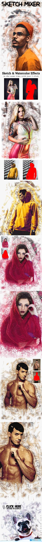 Sketch Mixer Photoshop Action 25784446
