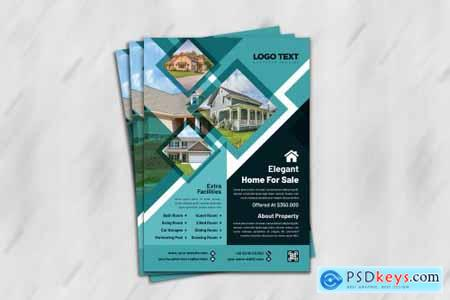 Real estate creative Flyer template 4686229