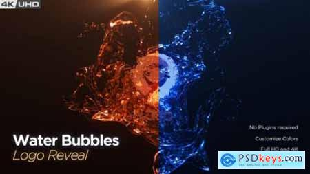 Water Bubble Logo Reveal 26136501
