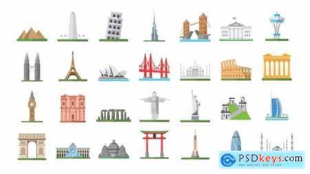 100 World Landmarks Icons 26139491