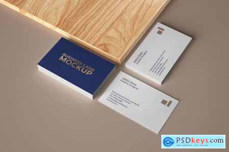Business Card Mockup Set With Shadow 4606553
