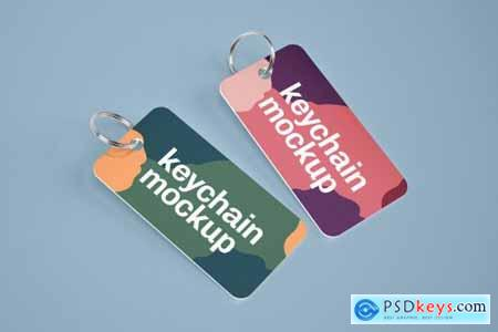 Silver & Card Keychain Mockup Set 4606587