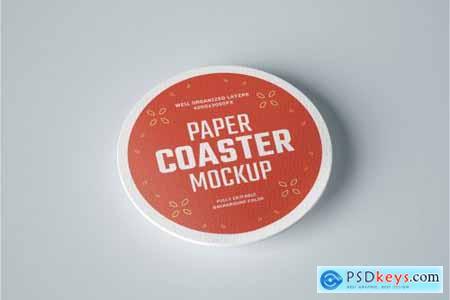 33 Paper Beverage Coaster Mockup Set 4752179