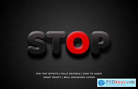 STOP Corona virus 3d text style effect