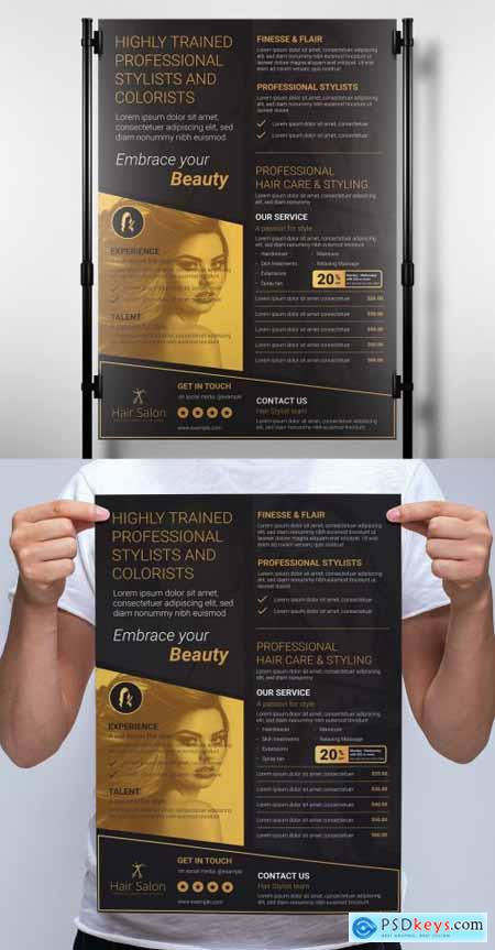 Black and Gold Banner Layout 333030310