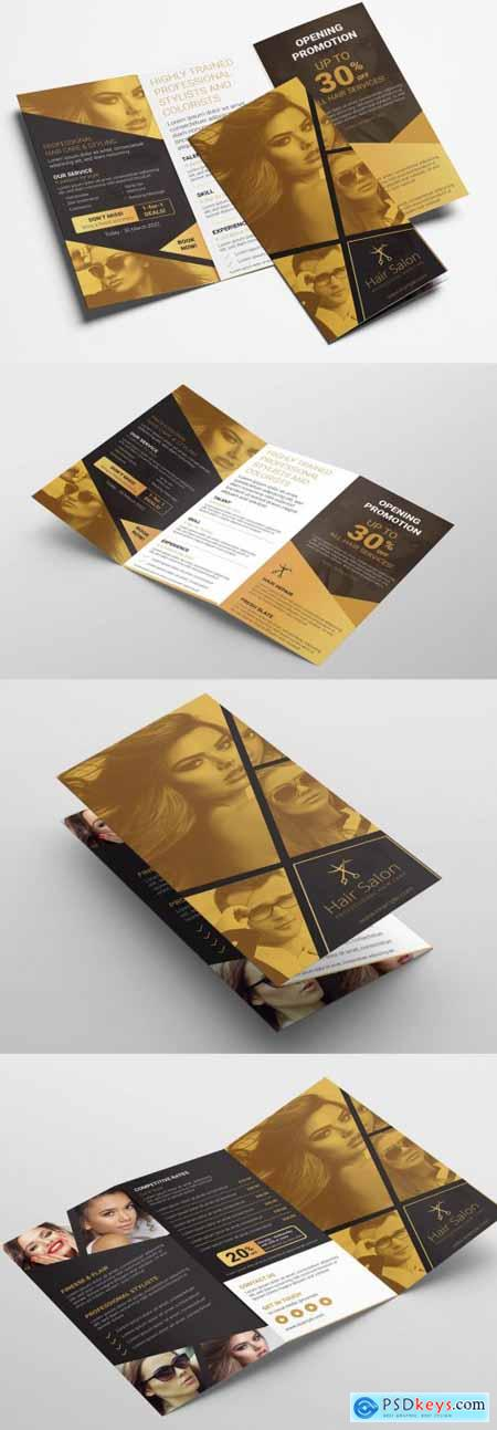 Black and Gold Trifold Brochure Layout 333031078