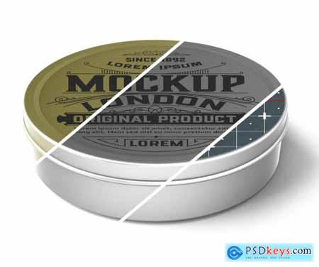 Colored Metal Tin Mockup 333539101