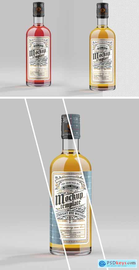 Whiskey Glass Bottle Mockup 333541575