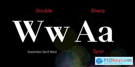 Soyombo Serif Complete Family