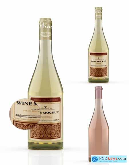 White Wine Bottle Mockup 333537304