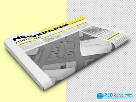 Folded Newspaper Mockup 333544823