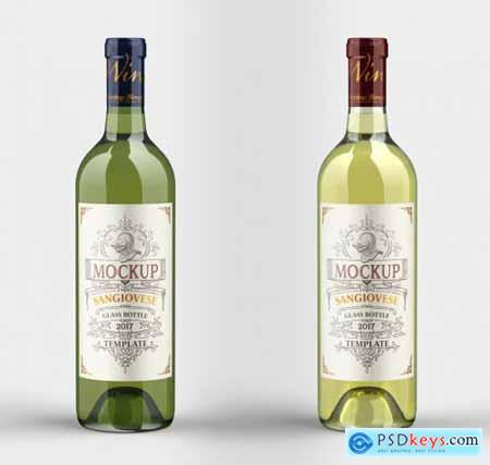 White Wine Bottle Mockup 333542981