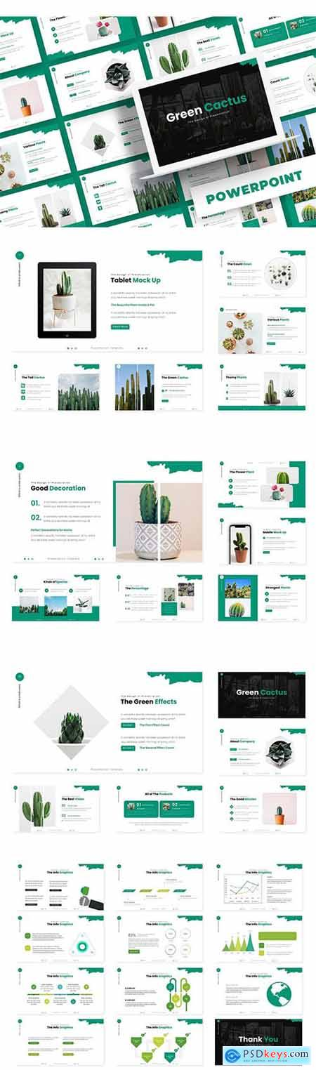 Green Cactus - Powerpoint, Keynote and Google Slide Template