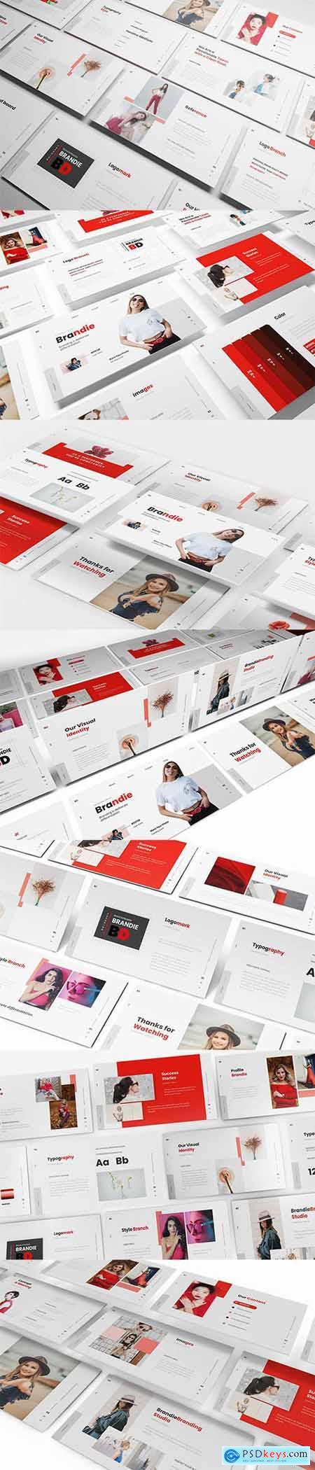 Brandie Branding Powerpoint, Keynote and Google Slide Template