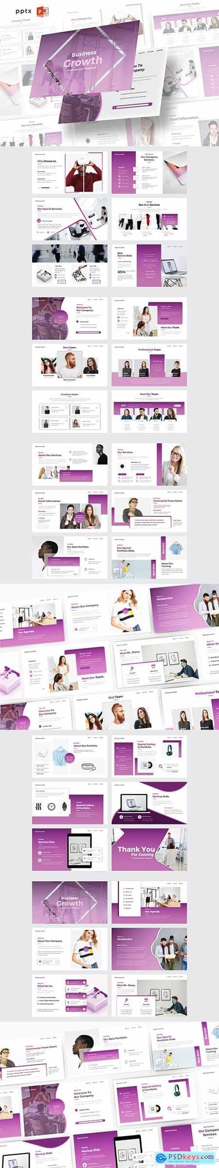 BUSINESS GROWTH - Powerpoint, Keynote and Google Slide Template